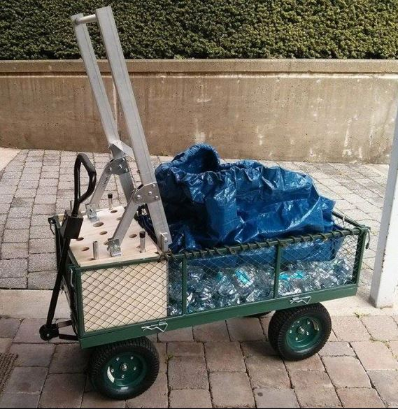 Plastic Bank Compactor Cart