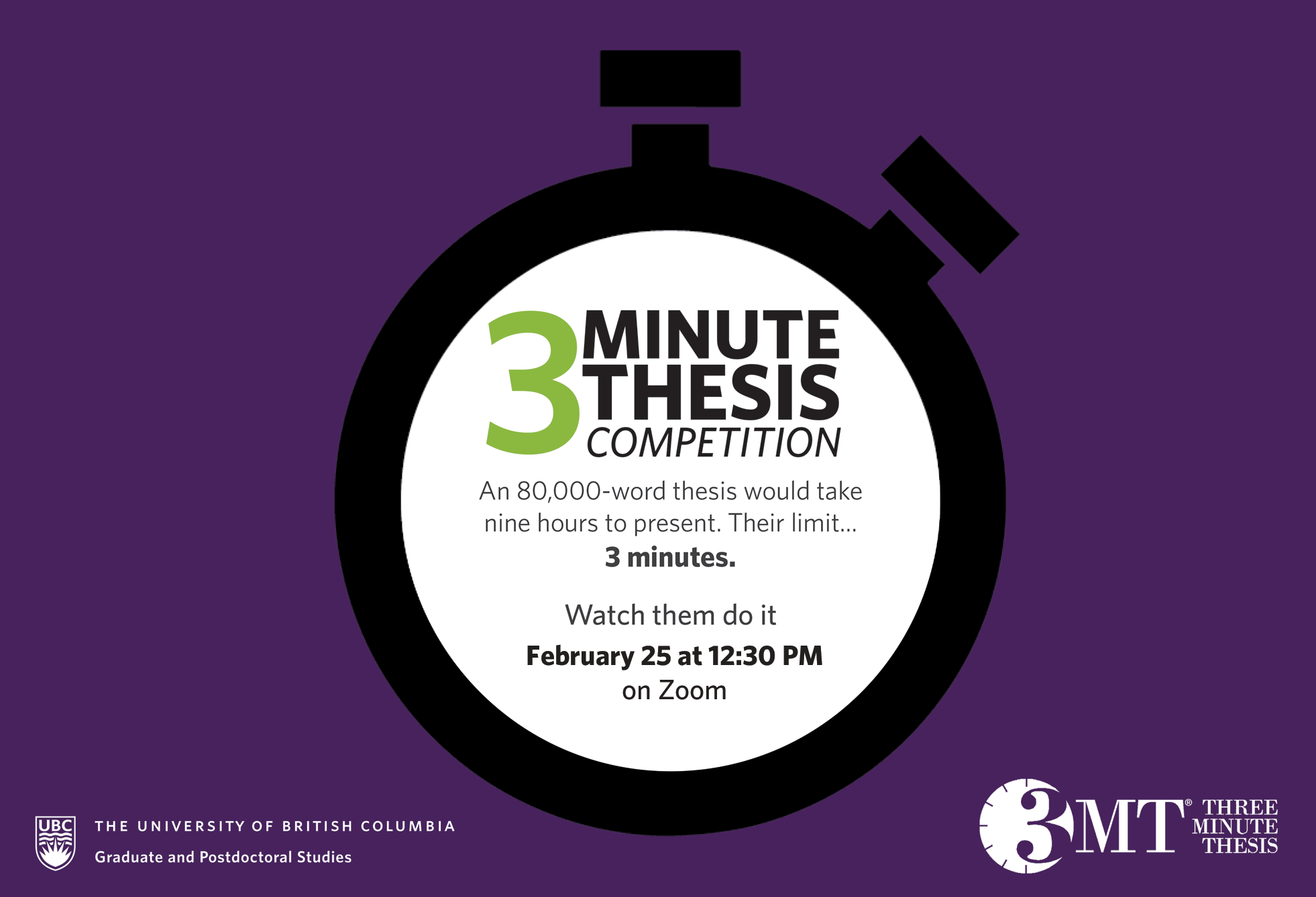 3 Minute Thesis poster