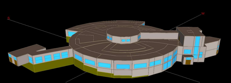 Computer model of competition building